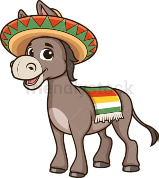 Mexican donkey. PNG - JPG and vector EPS (infinitely scalable).