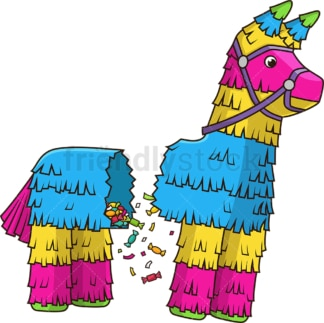 Pinata breaking in half. PNG - JPG and vector EPS file formats (infinitely scalable). Image isolated on transparent background.