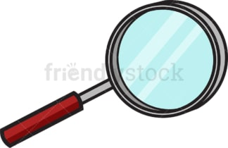 Simple magnifying glass. PNG - JPG and vector EPS file formats (infinitely scalable). Image isolated on transparent background.