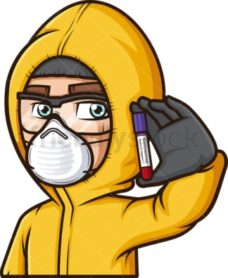 Man in hazmat suit coronavirus. PNG - JPG and vector EPS file formats (infinitely scalable). Image isolated on transparent background.