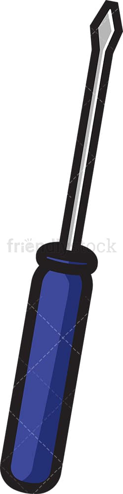Simple screwdriver. PNG - JPG and vector EPS file formats (infinitely scalable). Image isolated on transparent background.