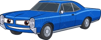 Blue vintage racing car. PNG - JPG and vector EPS (infinitely scalable).