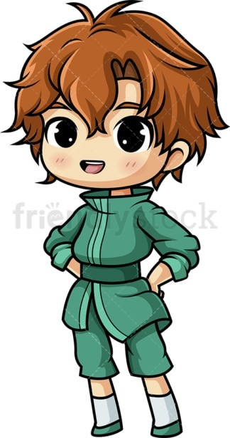 Kawaii boy. PNG - JPG and vector EPS file formats (infinitely scalable). Image isolated on transparent background.