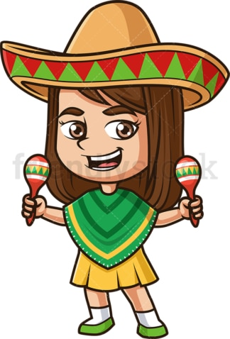 Mexican girl. PNG - JPG and vector EPS (infinitely scalable).