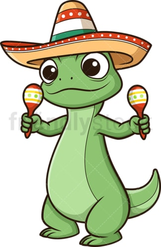 Mexican lizard. PNG - JPG and vector EPS (infinitely scalable).