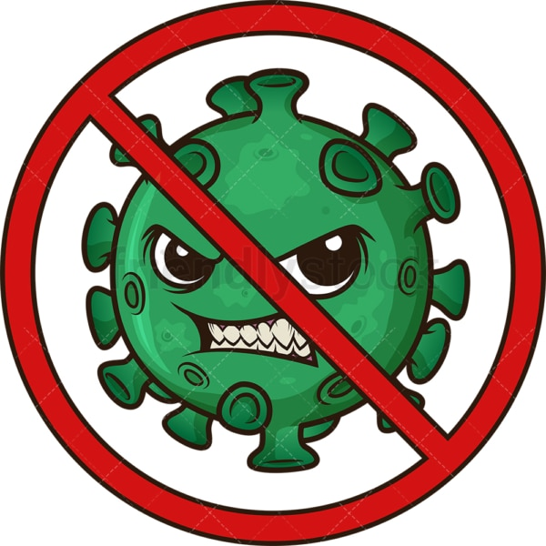 Stop coronavirus. PNG - JPG and vector EPS (infinitely scalable). Image isolated on transparent background.