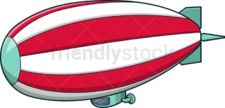 Zeppelin with red and white stripes. PNG - JPG and vector EPS (infinitely scalable).