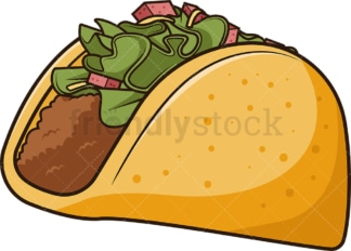 Titled taco. PNG - JPG and vector EPS file formats (infinitely scalable). Image isolated on transparent background.