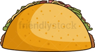 Taco side view. PNG - JPG and vector EPS file formats (infinitely scalable). Image isolated on transparent background.