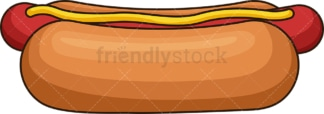 Hot dog side view. PNG - JPG and vector EPS file formats (infinitely scalable). Image isolated on transparent background.