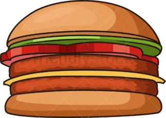 Simple hamburger. PNG - JPG and vector EPS file formats (infinitely scalable). Image isolated on transparent background.
