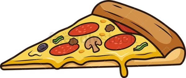 Simple pizza slice. PNG - JPG and vector EPS file formats (infinitely scalable). Image isolated on transparent background.