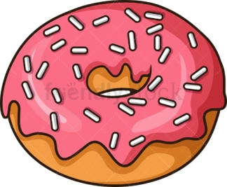 Simple donut. PNG - JPG and vector EPS file formats (infinitely scalable). Image isolated on transparent background.