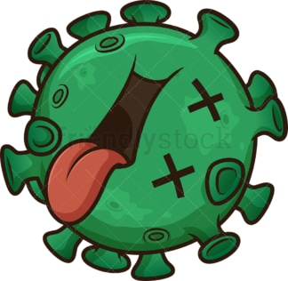 Dead coronavirus. PNG - JPG and vector EPS (infinitely scalable). Image isolated on transparent background.