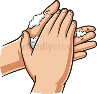 Handwashing palm to palm. PNG - JPG and vector EPS (infinitely scalable).