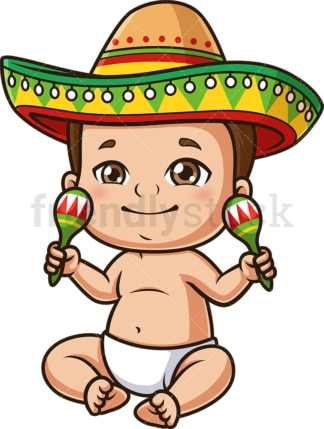 Mexican baby. PNG - JPG and vector EPS (infinitely scalable).