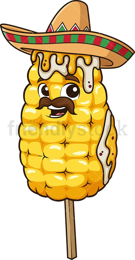 Mexican corn elote. PNG - JPG and vector EPS (infinitely scalable).