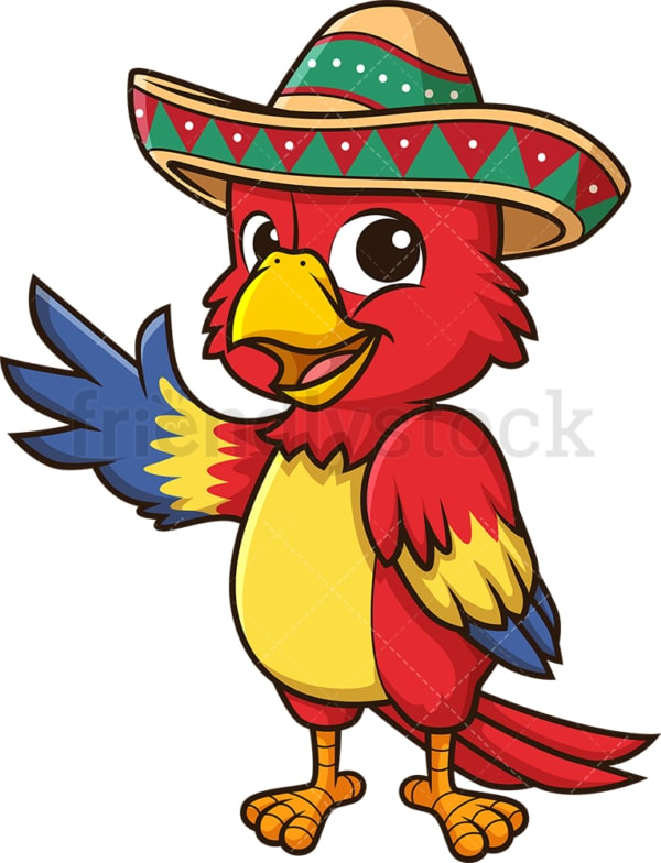 Mexican parrot. PNG - JPG and vector EPS (infinitely scalable).