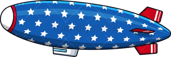 Patriotic blimp airship. PNG - JPG and vector EPS (infinitely scalable).