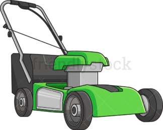 Green lawn mower. PNG - JPG and vector EPS file formats (infinitely scalable). Image isolated on transparent background.