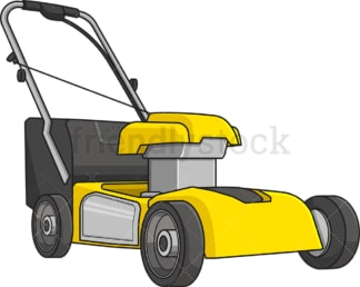 Yellow lawn mower. PNG - JPG and vector EPS file formats (infinitely scalable). Image isolated on transparent background.