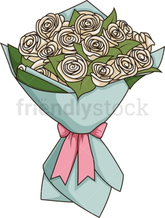 Bouquet of white roses. PNG - JPG and vector EPS file formats (infinitely scalable). Image isolated on transparent background.