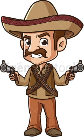 Mexican bandit. PNG - JPG and vector EPS (infinitely scalable).