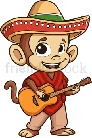Mexican monkey. PNG - JPG and vector EPS (infinitely scalable).