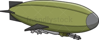 Military zeppelin airship. PNG - JPG and vector EPS (infinitely scalable).
