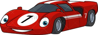 Red racing car. PNG - JPG and vector EPS (infinitely scalable).