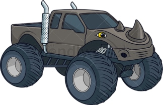 Rhino monster truck. PNG - JPG and vector EPS (infinitely scalable).