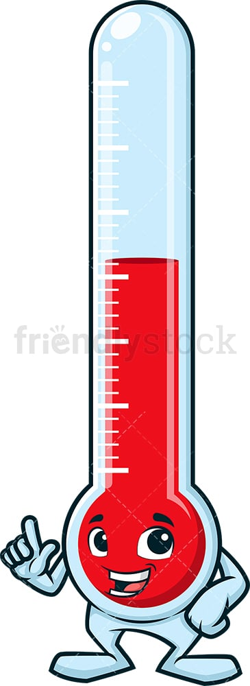 Thermometer pointing up. PNG - JPG and vector EPS (infinitely scalable).