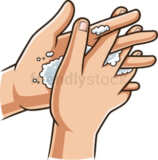 Washing finger tips. PNG - JPG and vector EPS (infinitely scalable).