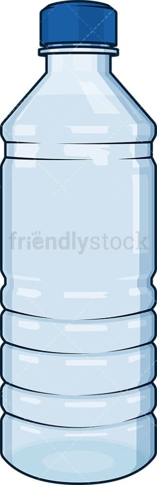 Plastic water bottle. PNG - JPG and vector EPS file formats (infinitely scalable). Image isolated on transparent background.