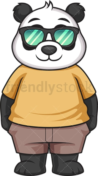Baby panda with sunglasses. PNG - JPG and vector EPS file formats (infinitely scalable). Image isolated on transparent background.