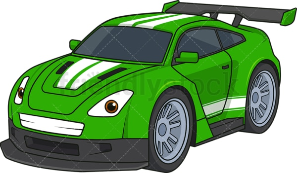 Green racing car. PNG - JPG and vector EPS (infinitely scalable).