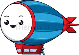 Kawaii blimp. PNG - JPG and vector EPS (infinitely scalable).