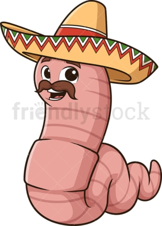 Mexican worm. PNG - JPG and vector EPS (infinitely scalable).