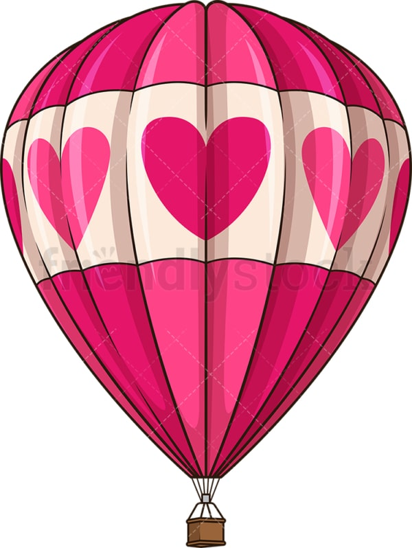 Pink hot air balloon. PNG - JPG and vector EPS (infinitely scalable).