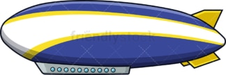 Blue and yellow zeppelin. PNG - JPG and vector EPS (infinitely scalable).