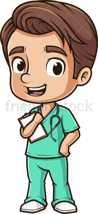 Happy male nurse. PNG - JPG and vector EPS (infinitely scalable).