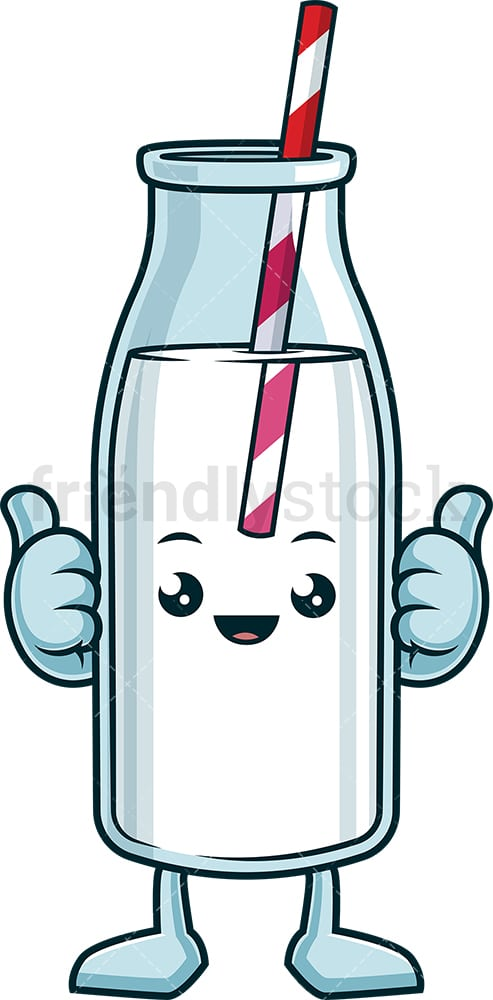 Happy milk bottle. PNG - JPG and vector EPS (infinitely scalable).