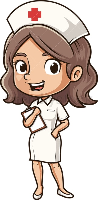 Happy nurse. PNG - JPG and vector EPS (infinitely scalable).