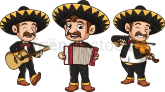 Mariachi group. PNG - JPG and vector EPS file formats (infinitely scalable). Image isolated on transparent background.