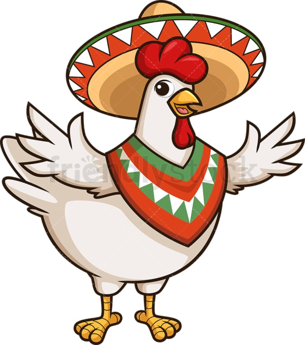 Mexican chicken. PNG - JPG and vector EPS (infinitely scalable).