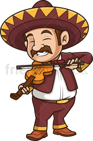 Mexican mariachi playing violin. PNG - JPG and vector EPS (infinitely scalable).