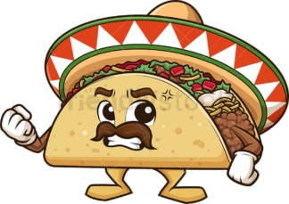 Angry mexican taco. PNG - JPG and vector EPS (infinitely scalable).