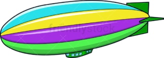 Colorful blimp. PNG - JPG and vector EPS (infinitely scalable).