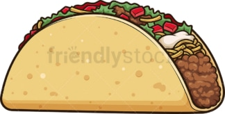 Delicious taco. PNG - JPG and vector EPS file formats (infinitely scalable). Image isolated on transparent background.