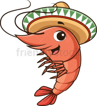 Mexican shrimp. PNG - JPG and vector EPS (infinitely scalable).